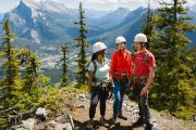Admire the view after your ascent up the Mount Norquay Via Ferrata Explorer Route in Banff
