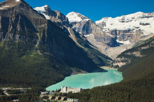 See Lake Louise and the Fairmont Chateau Hotel with Discover Banff Tours