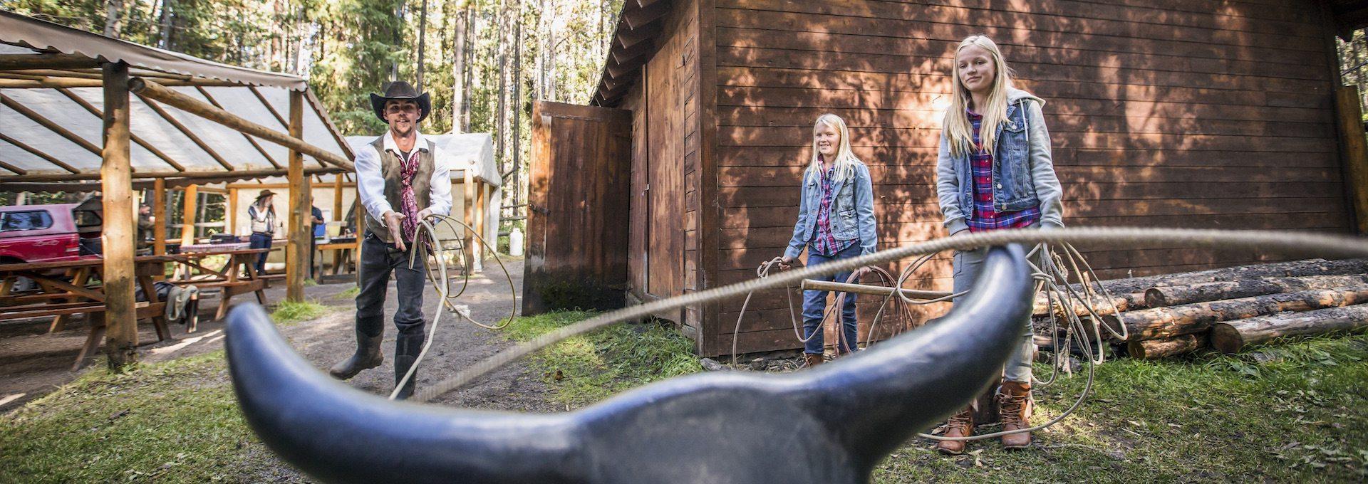 Banff Horseback Cowboy