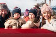 Banff family winter sleigh ride