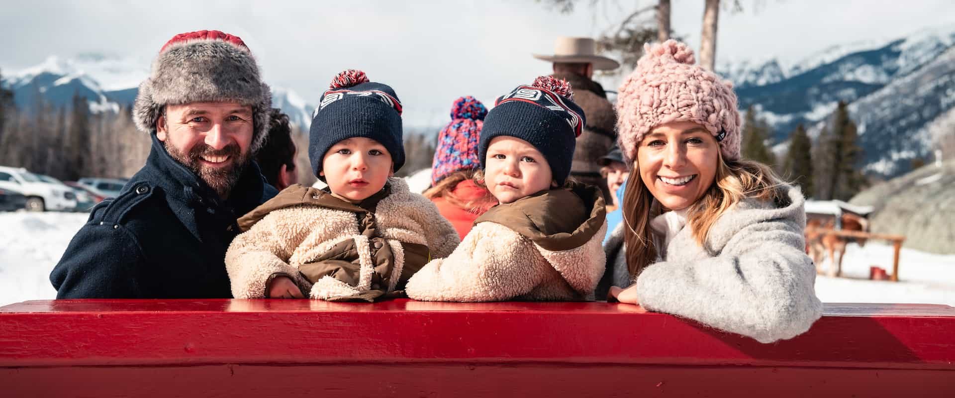 Banff family winter sleigh ride