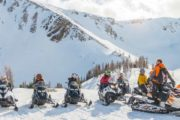 Big and small groups are welcome on the full day Paradise Basin snowmbiling tour in the Canadian Rockies