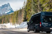 Bow Valley Parkway winter drive to Johnston Canyon with Discover Banff Tours