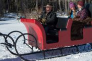 Enjoy a private sleigh ride with a loved one in Banff