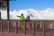 Enjoy incredible views from Eagle's Eye Restaurant at Kicking Horse Mountain Resort on the Powder Express Ski Tour