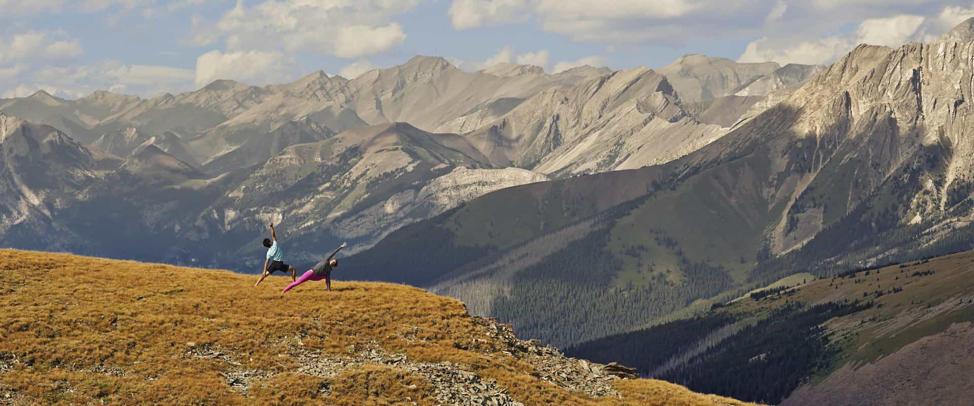 Experience yoga in Banff