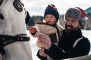 Family Banff sleigh ride