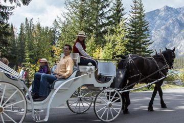 Family Carriage Ride in Banff, Canadian Rockies