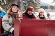 Family sleigh ride