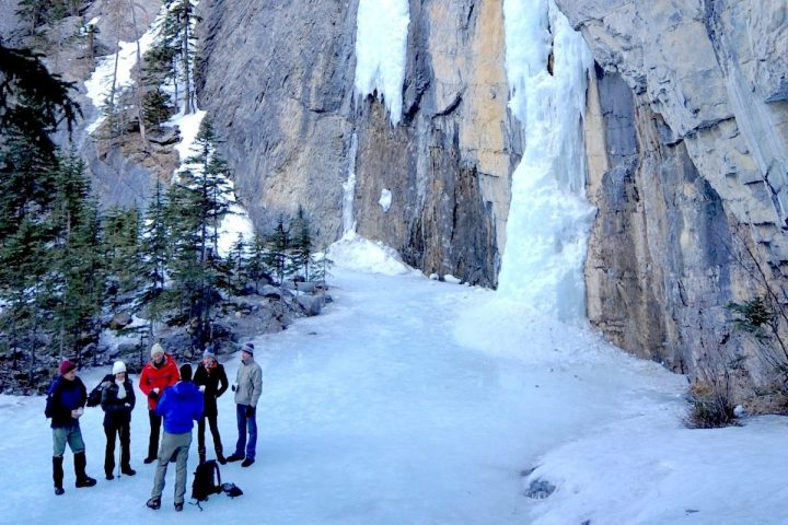 Grotto Canyon Icewalk with Discover Banff Tours