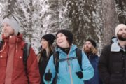 Hiking through Johnston Canyon in Banff with Discover Banff Tours