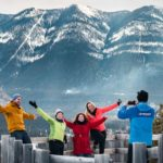 Hoodoos viewpoint winter photos with Discover Banff Tours