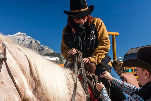 Horseback Ride Banff Trail Riders in Banff, Canadian Rockies with Discover Banff Tours