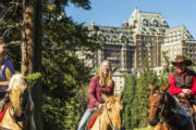 Horseback ride near the Fairmont Banff Springs Hotel