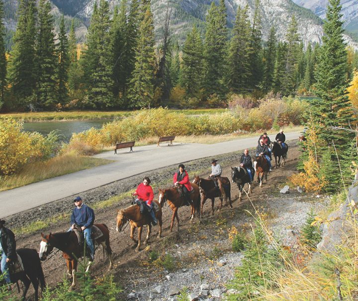 Horseback ride Banff Trail Riders
