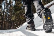 Wear ice cleats on the Johnston Canyon Icewalk with Discover Banff Tours