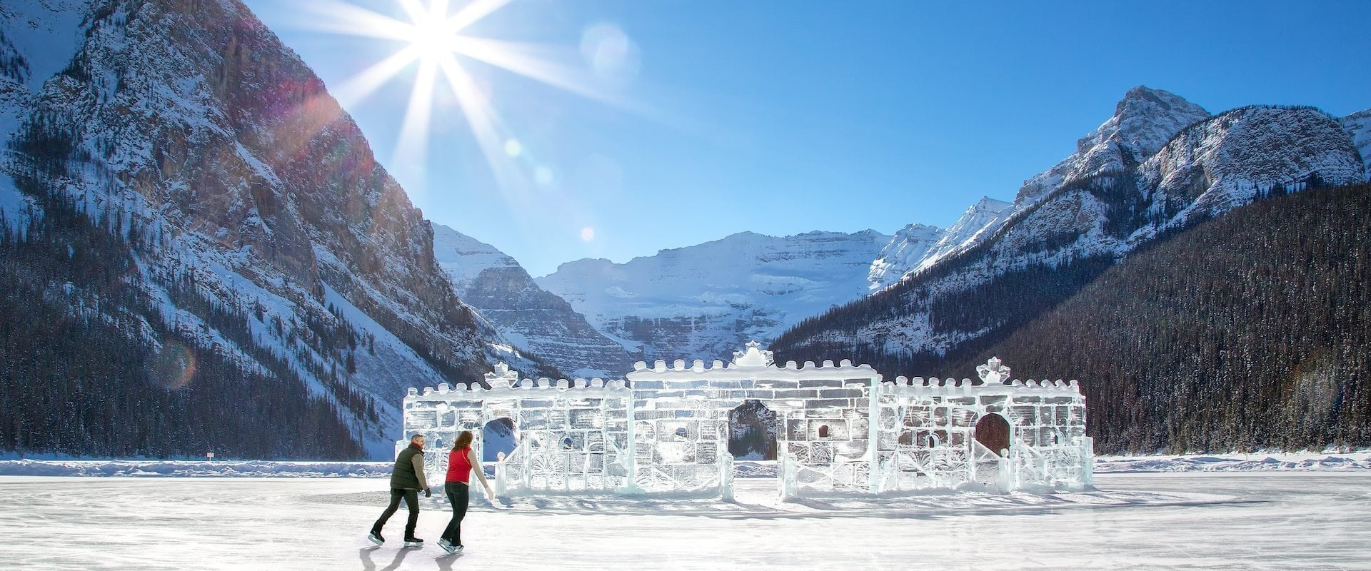 Ice skate at Lake Louise on a full-day tour with Discover Banff Tours