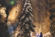 Johnston Canyon Evening Icewalk in Winter with Discover Banff Tours