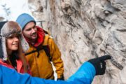 See ancient fossils on the Johnston Canyon Icewalk with Discover Banff Tours