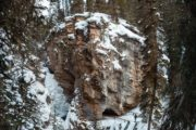 See the frozen lower falls on the Johnston Canyon Icewalk with Discover Banff Tours