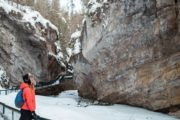 Johnston Canyon winter icewalk with Discover Banff Tours