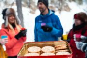 Maple Cookies on the Johnston Canyon Icewalk with Discover Banff Tours