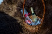 Private sleigh rides include sparkling wine and chocolates