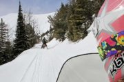 Ride your snowmobile along the snowy trails at Paradise Basin