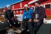 Roast marshmallows by the fire with friends before your winter sleigh ride