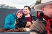 Romantic private sleigh ride