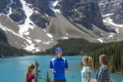 Scenic view of Moraine Lake on the Discover Lake Louise and Moraine Lake Tour