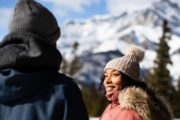 See Banff highlights such as the Hoodoos Viewpoint on a winter tour with Discover Banff Tours