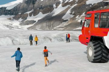 See the Athabasca Glacier on the Icefields Parkway Tour