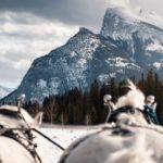 Sleigh ride mountain views