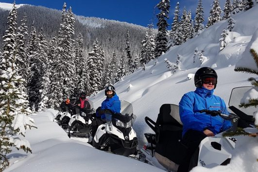 Snowmobiling Tour with Discover Banff Tours in the Canadian Rockies