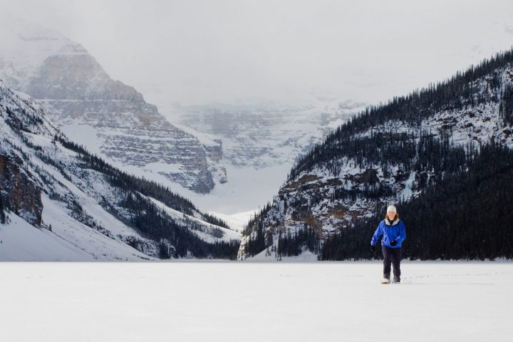 Snowshoeing at Lake Louise