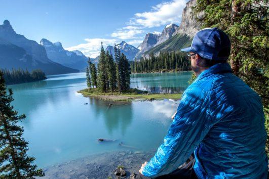 Spirit Island at Maligne Lake in Jasper, Alberta