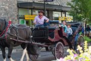 Take a Banff carriage ride through downtown