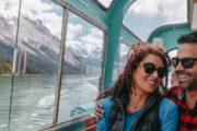 Take a comfortable cruise on Maligne Lake in Jasper