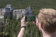 Take photos of the Fairmont Banff Springs Hotel from Surprise Corner on the Discover Banff and Its Wildlife Tour