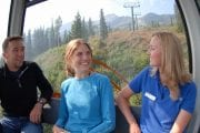 Take the Golden Eagle Express Gondola up to Eagle Eye Restaurant on the Discover Grizzly Bears Tour with Discover Banff Tours