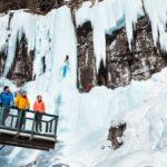 Upper Falls on the Johnston Canyon Icewalk