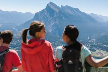 View from the Banff Sightseeing Chairlift at Mt Norquay