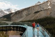 Walk on the glassfloor Glacier Skywalk on the Icefields Parkway Tour