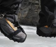 Wear Ice cleats on the Grotto Canyon Icewalk with Discover Banff Tours