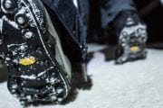Wear ice cleats to keep you steady on an icewalk with Discover Banff Tours