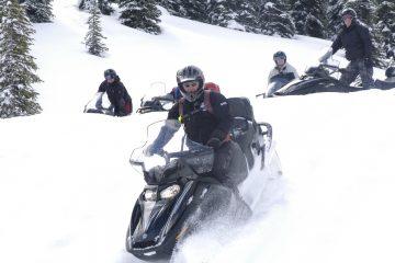 Snowmobile Tour in Golden, British Columbia