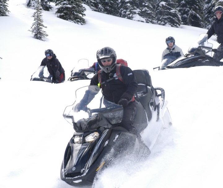 Snowmobile Tour in Golden, British Columbia