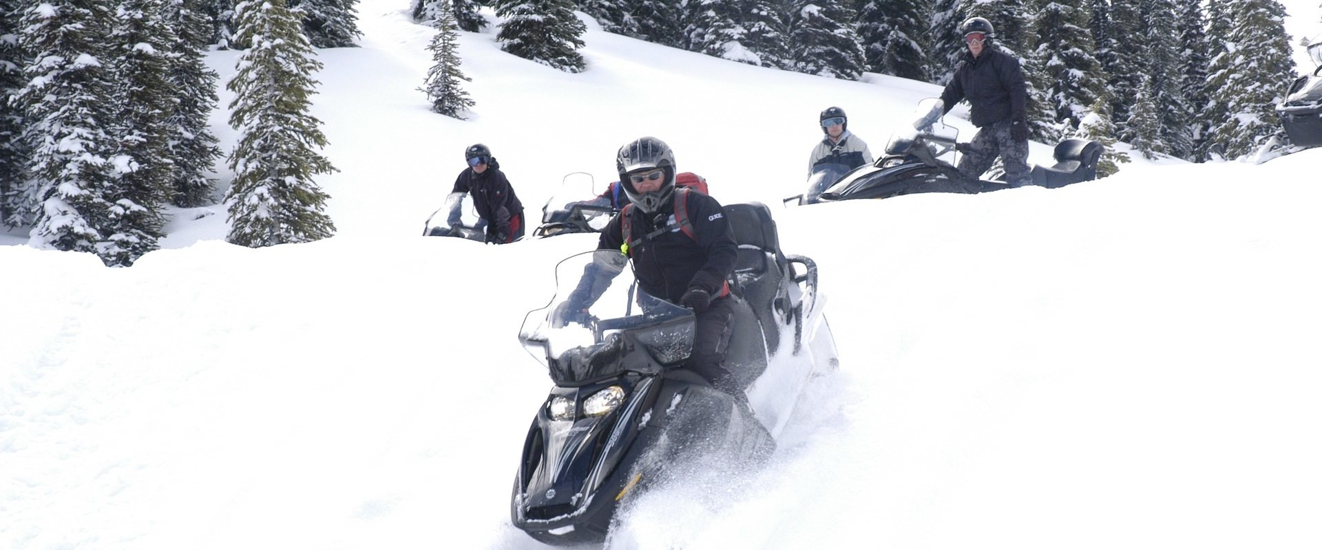 Golden Snowmobiling