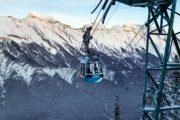 Winter Banff Gondola in Banff National Park